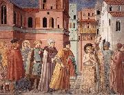 Scenes from the Life of St Francis (Scene 3, south wall) sdg GOZZOLI, Benozzo